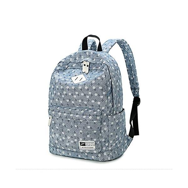 51jqVqpdXpL. SS600  - Moollyfox Niña Dulce floral del Estilo fresco Linda la capacidad grande Mochila bolso de escuela Para Adolecente…