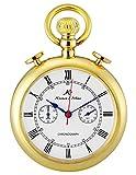 KS Taschenuhr mit Kette Herren Gold Quarz Analog Chronograph Vintage Geschenkbox KSP091