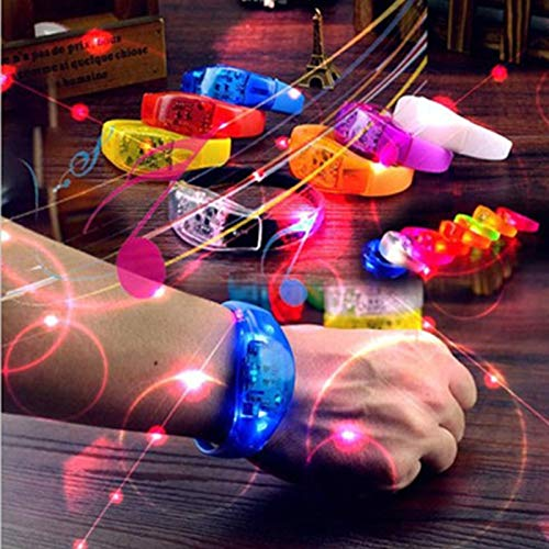 Neon Party Led Armband Mit Controller Led Party Led Armband Sound Aktiviert Weihnachten Armband Glowing Armbänder (Aktiviert Sound Armband)