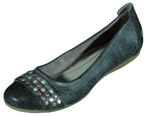 Dockers Damenschuhe sportlich PU-Nappa, Gummisohle in schwarz, Größe 38.0, Artikelnummer EH220302