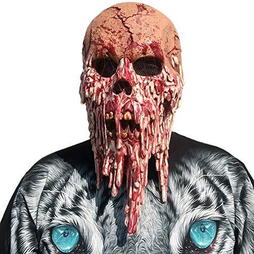 S+S Unheimlich Halloween Maske Knochen Betäubt Spukhaus Kammer Blutdrainage Horror Kopfbedeckung Maske Film Und Kostüm Party Requisiten Unisex Einheitsgröße