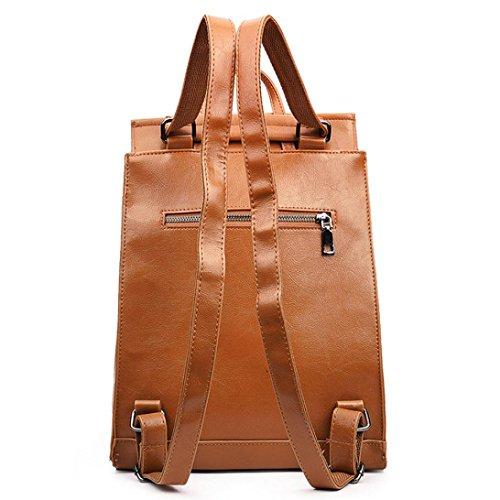 LETTER Rucksack Tasche Frauen arbeiten Schulart- Reisetasche Schultasche Braun