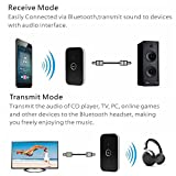 #9: Wireless Bluetooth B6 2 in 1 Audio Music Transmitter + Receiver For TV, iPod, mp3, Speaker, 3.5mm Jack (A2DP)