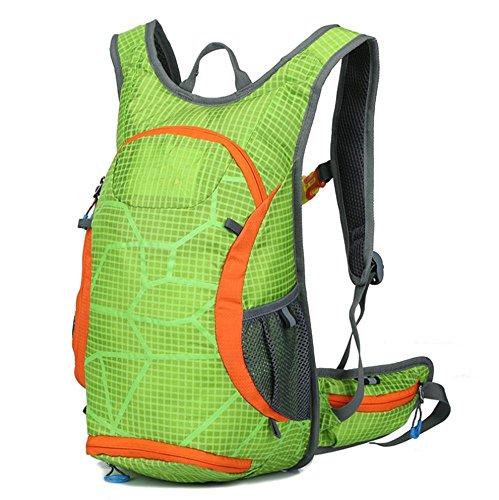 Xiuxiandianju Autunno/inverno equitazione all'aperto di viaggio pacchetto sport zaino escursionismo sacco , orange Green