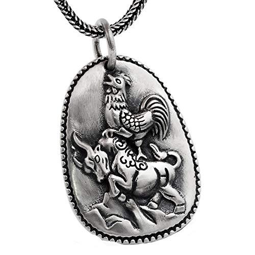 Epinki 925 Sterling Silber Herren Halskette Punk Rock -