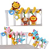 #3: JollyBaby Discovery Activity Spiral Crib Bed Soft Musical Toy Infant Rattle Stroller/pram