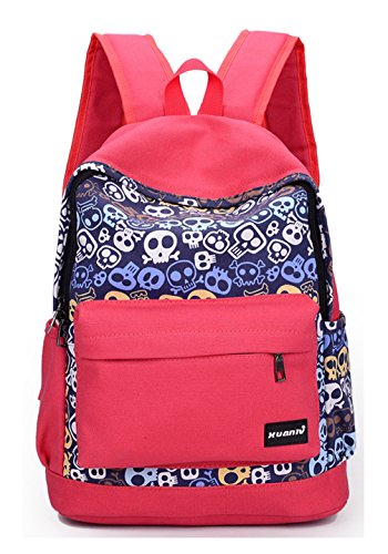 Keshi Canvas Cute Girl Zaino Satchel Watermelon Red