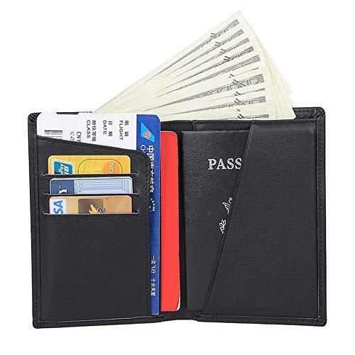 brieftaschen Mens Wallets Minimalist Front Pocket Blocking Kartenhalter Minimalist Bifold Box Retro Multi-Kartensteckplatz Klappbar Geldscheinklammer Schlank und Schlank Lederbrief ()