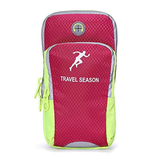 Nylon Breathable Mesh Double Zipper Arm Bag Sport Running Mobile Phone Holder Case On Hand Armband Gym Arm Band Phone Bag Pouch Structural Disabilities Cellphones & Telecommunications Mobile Phone Accessories