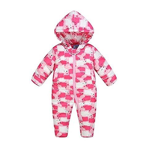 ZAMME Baby-Jungen-Mädchen Neugeborener Pram Einteiler-Oberbekleidung-Snowsuit 0-24 Monate