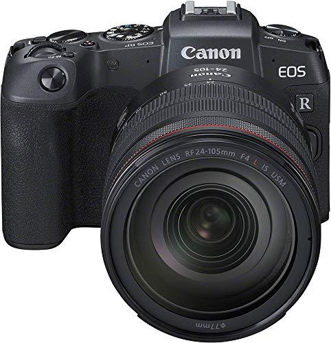 Canon EOS RP + RF 24-105mm f/4 L IS USM + Adapter EF-EOS R (Systemkamera mit Vollformat-Sensor, 26,2 Megapixel, 7,5 cm (3,0 Zoll) Clear View LCD II, Digic 8, 4K Video, WLAN, Bluetooth)