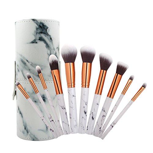 Sharplace 10 pièces kit de Pinceaux de Maquillage Professionnel en Nylon, Brosse de Maquillage Fusion de Fond de Teint Concealer Eye Visage Liquide, Poudre, Crème - Cosmétique Pinceaux avec Étuis(Noir)