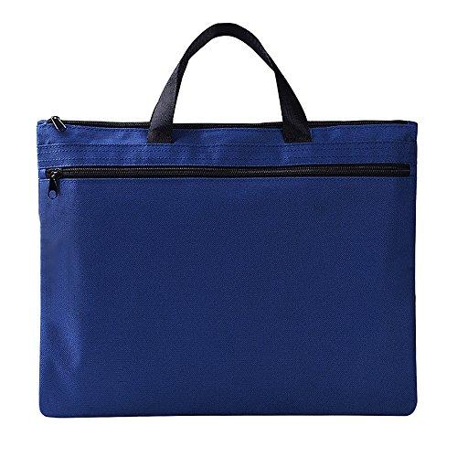 mylifeunit Business Dokument Tasche, Reißverschluss Leinwand Datei Ordner für A4Papiere 39 x 30 cm blau