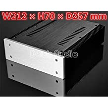 nobsound® Aluminum Amplifier Enclosure/HIFI DAC Chassis/Preamp PSU Case/amplificador de montar Blank Caja DIY caja House With Heatsink grosos 212* 70* 257mm