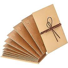 Mudder Scrapbook Rilegato Album Fotografico 4 x 6 Pollice Carta Kraft Pieghevole Album delle Fotografie per Fai Da Te Scrapbooking Matrimonio Anniversario Blocco
