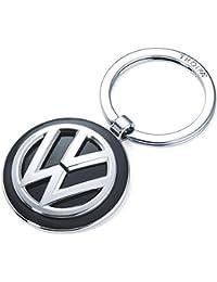 Troika - Llavero original de VOLKSWAGEN, emblema de Volkswagen, anillo, metal fundido/esmalte, cromado brillante