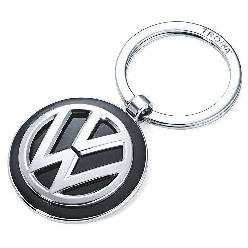 Schlüsselanhänger VW VOLKSWAGEN KEYRING - KR16-05/VW VW-Emblem 1 Schlüsselring zusätzlich Official licensed by Volkswagen Metallguss glänzend - Original von TROIKA
