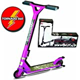 PINK TORNADO 360 FIXED BAR STUNT PUSH PRO SCOOTER 360 DEGREE STREET FOR KIDS CHILDRENS ADULTS