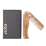 EQLEF® 1 pezzi Yak Horn pieghevole pettine elegante pieghevole tasca yak corno pettine Portafoglio-fit pettine