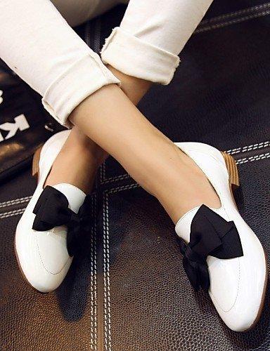 ShangYi gyht Scarpe Donna-Scarpe col tacco-Tempo libero / Ufficio e lavoro / Serata e festa-Tacchi-Basso-Finta pelle-Nero / Rosso / Bianco White