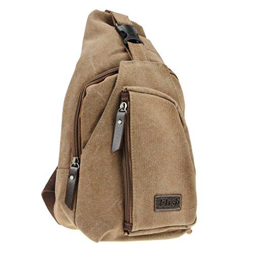 Männer Herren Umhängetasche Schleuder Tasche Koreanische Canvas Brusttasche Schultasche Tragetasche Brustbeutel Crossbody Bag Multifunktionale Tasche für Outdoor-Sport und Arbeit (Rv-brustbeutel)