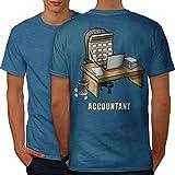 wellcoda Buchhalter Job Männer S Ringer T-Shirt
