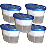 Pack of 5 x 500ml Interior Dehumidifiers with Fast Acting Crystals - Ideal for Use Around The Home, Office, Caravans and Small Spaces - Helps Prevent Damp, Mildew, Mould and Condensation