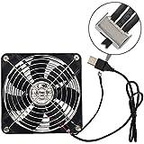 ELUTENG Ventilador silencioso de 12cm con control de velocidad y sistema de rodamiento de bolas doble USB Fan para PC, PS4, PS3, Xbox y router