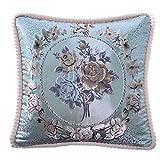 Ai.Moichien Extravagante Klassische Blumendruck Baumwolle Leinen Kissenbezug Sofa Bett Dekoration Patten Festival Kaffee Auto Kissenbezug 45 cm x 45 cm