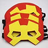12 Pieces Superhero Masks Eye Masks Felt Half Masks With Elastic For Kids Party Masquerade Birthday Party Decoration | Fancy Dress Costume | Kindergarden | Fancy Dress Shop | Baby Show Event | Superhero Eye Mask | B'day Party Favours | Return Gift