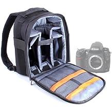 DURAGADGET Mochila Resistente Con Compartimentos Para Cámara Nikon D7100 / D7000 /D700 / P7700 / P7000 + Funda Impermeable ¡Perfecta Para Fotografiar Bajo La Lluvia!