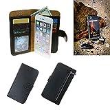 K-S-Trade Caterpillar Cat S31 Schutz Hülle Portemonnaie Case Phone Cover Slim Klapphülle Handytasche Schutzhülle Handyhülle schwarz aus Kunstleder (1 STK)