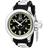 Invicta Russian Diver Men's Quartz Watch with Black Dial  Analogue display on Black Pu Strap 4342