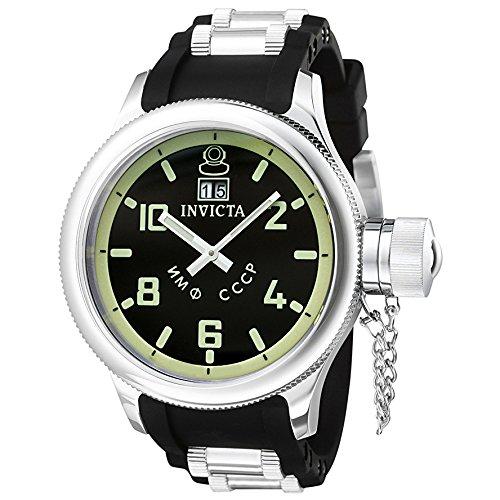 Invicta 4342 Russian Diver Herren Uhr Edelstahl Quarz schwarzen Zifferblat