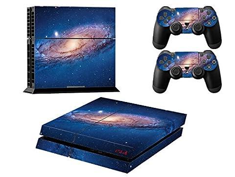 Stillshine PS4 Skin Vinyle Colorés Decal Autocollant Sticker pour Playstation 4console x 1 et le Manette x 2 (Milky