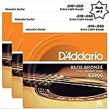 #9: D'Addario EZ900 85/15 Bronze Great American Extra Light Acoustic Guitar Strings (3 Pack)