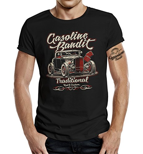 Gasoline Bandit Rockabilly Hot-Rod RacerCamiseta Original Diseno:...