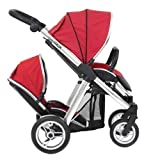 BabyStyle Oyster MAX Inline Double Baby Pushchair (inc 2nd Seat) Tomato Red
