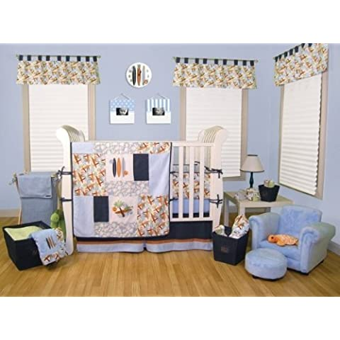 Surf'S Up 4-Pc Crib Set: 4-Piece Bumper Set, Coverlet, Skirt, Crib Sheet by Trend-lab Baby