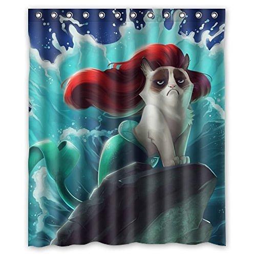 Dream Außerhalb Fashion Drücken Lupenrein Gorgeous Creative Mermaid Katze Dusche Retro Vorhang Dusche Polyester-100% wasserdicht-152,4cm (W) X 182,9cm (H) Standard -