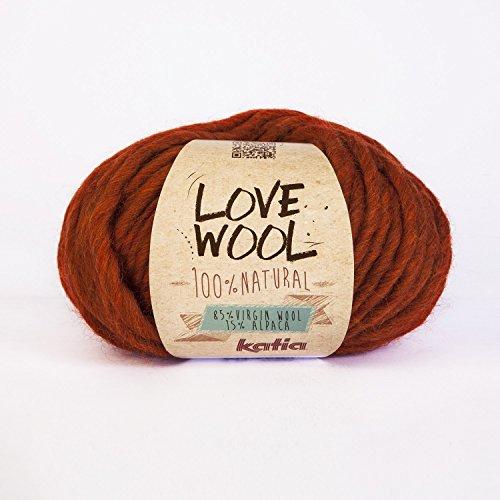 Katia Love wool#114 orange super chunky 12-15-mm-Nadeln): 85% Wolle 15% alpaca, 100 g Knäuel -