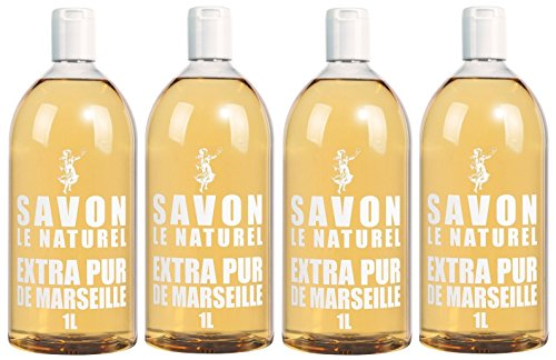 Savon Le Naturel - Extra Pur de Marseille Recharge Universelle - 1 L - Lot de 2