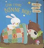 Léon l'ours, bonne nuit : Mon premier livre animé avec des rabats