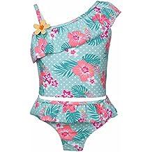 e307680f06f721 YiZYiF Mädchen Tankini Bikini Badeanzug Blumen Muster Top mit Slip  Badeshorts Badekleidung Set Gr. 86
