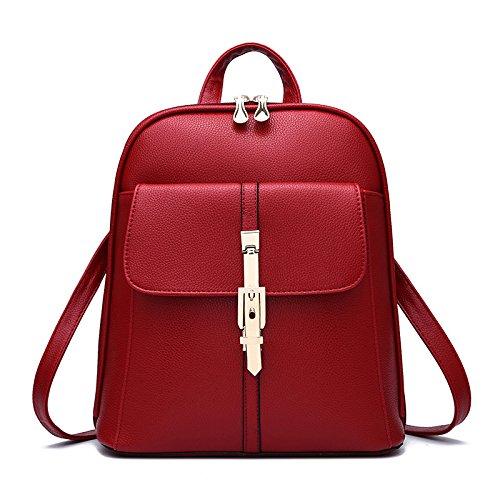 Mefly Tutti-Match Inverno Scuola Studente Sacco Bag Rosa Claret