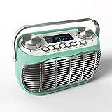 Detroit   Radio FM Reveil - Poste Radio Vintage Portable avec Grand écran LCD, Prise...