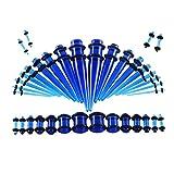 BOOM Dehnstäbe Set Flesh Tunnel - 36 Stück Acryl 1.6-10mm Dehnstab Dehnungsstäbe Schwarz Taper Plugs Single Flard Ohr Piercing Set Stecker Klassisch Expander Damen HerrenPunk