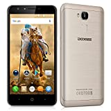 "Doogee Y6 - Smartphone libre Android 6.0 (4G LTE, Pantalla 5.5"", Quad Core, 16GB ROM, 2GB RAM, Camara 13MP, Dual SIM, OTG), Dorado"