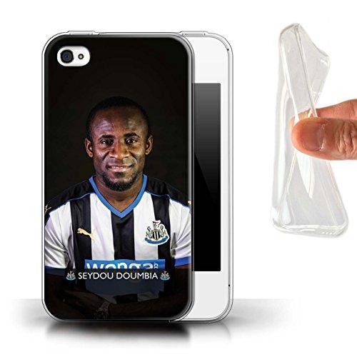 Offiziell Newcastle United FC Hülle / Gel TPU Case für Apple iPhone 4/4S / Pack 25pcs Muster / NUFC Fussballspieler 15/16 Kollektion Doumbia