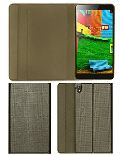 "Acm Imported Designer Tri-Fold Flip Case for Lenovo Phab 6.98"" Tablet Cover Dark Gold"